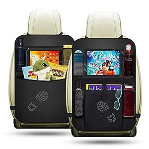 51XlH5lqtFL. SS300 Auto Rückenlehnen Schutz Punvot 2 Stück Tasche für Autositz Auto Organizer Rücksitztasche Auto Organizer für Kinder Auto…