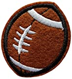 Écusson Ballon Rugby Football Américain Patch Sport Thermocollant 5,2x4,2cm Cameleon-Shop