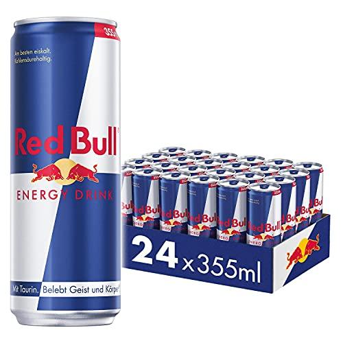 Red Bull Energy Drink Dosen Getränke 24er Palette, EINWEG (24 x 355 ml)