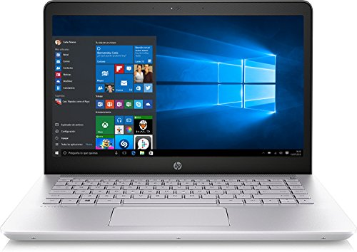 HP 14-bk001ns Pavilion - Ordenador portátil 14' FHD (Intel Core i5-7200U, 8 GB RAM, 256 GB SSD, Intel HD Graphics 620,Windows 10 Home 64), Plata