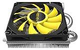 Reeven Vanxie Low Profile 80mm Air CPU Cooler, Intel LGA1151, AMD AM4/Ryzen