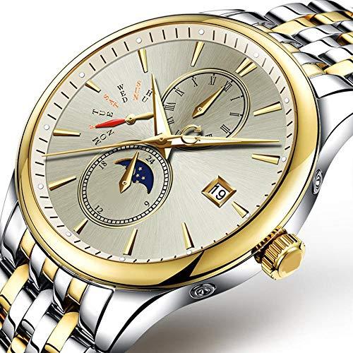North King Quarz Uhren für Männer mit Sternen im Inneren Mann, Hohe Qualität-Armbanduhr als A Watch für Geschenk