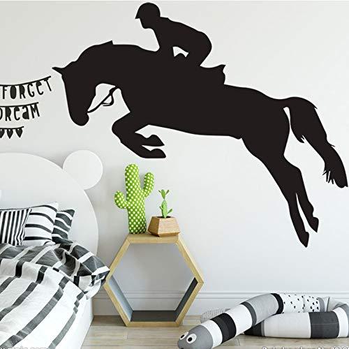 Tianpengyuanshuai Creatief paarden dier muursticker woonkamer slaapkamer decoratie voor thuis kinderkamer muursticker
