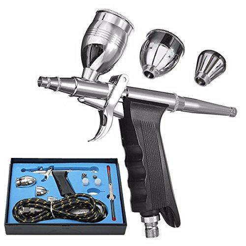 MASUNN Dual Action Airbrush Gun Kit Pneumatisch Pistool Set Met Airbrush Slang En Spray Gun