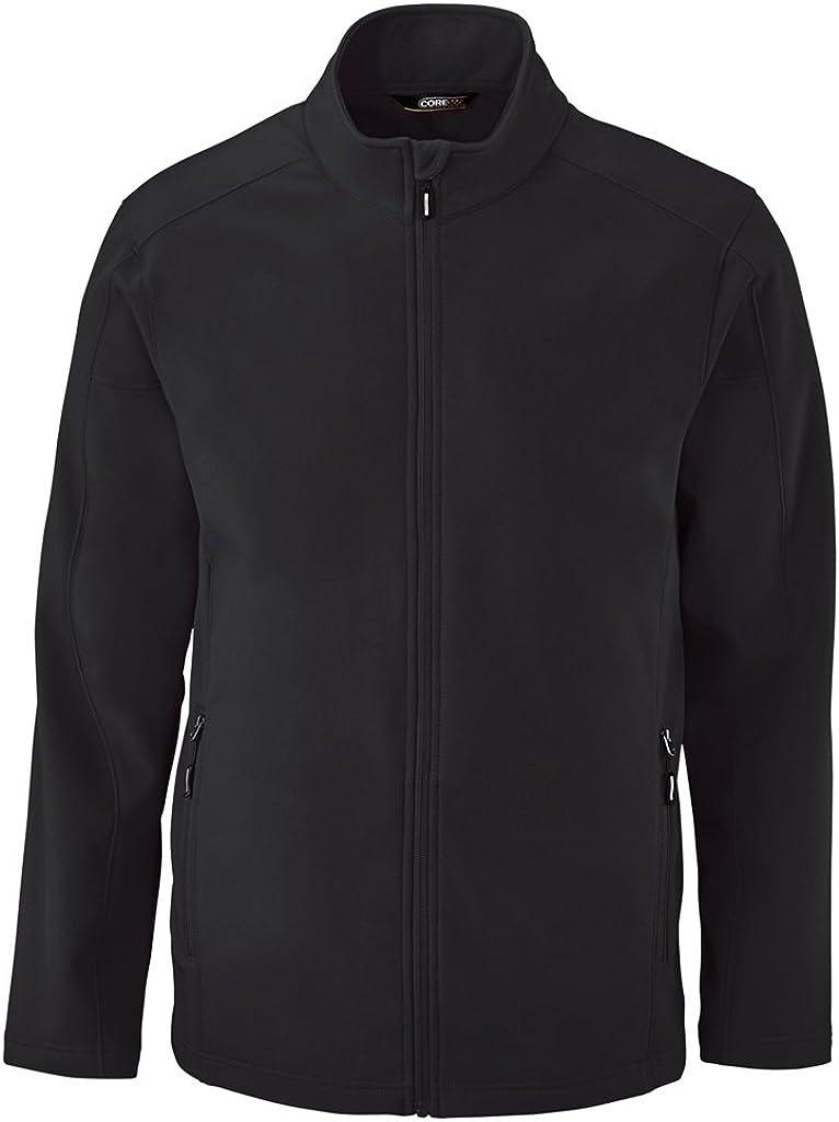 Ash City Mens Cruise Fleece Soft Shell Jacket (Small, Black)