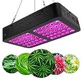 S2F5 600W / 1200W LEDは温室効果室内植物のベジタリアンと花のためにUV IRの光フルスペクトラムオートオン/オフのタイミング機能を成長させます S2F5 (Size : 600W)