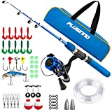 Kids Fishing Pole,Light and Portable Telescopic Fishing Rod and Reel Combos for Youth