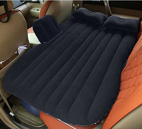 NEX Car Inflatable Mattress Car Bed Mobile Cushion Camping Air Bed with Motor Pump, Two Pillows for Travelling and Sleeping Rest