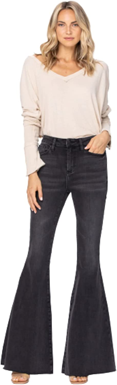 Judy Blue 88116-24 Black High Rise Super Flare Blue Jeans 88116 High-Rise 24