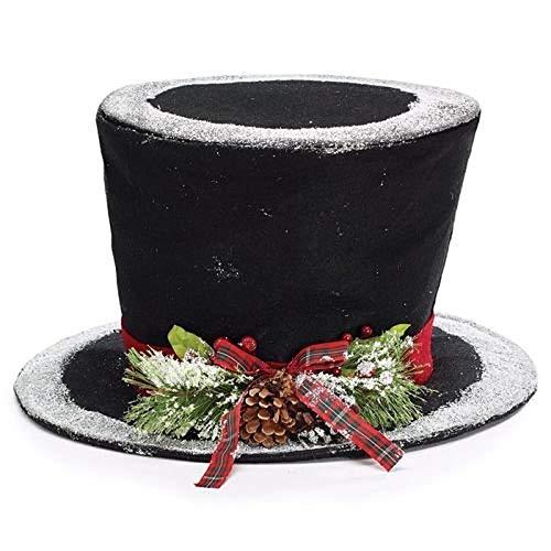 Burton & Burton Tree Topper Black Fabric Hat
