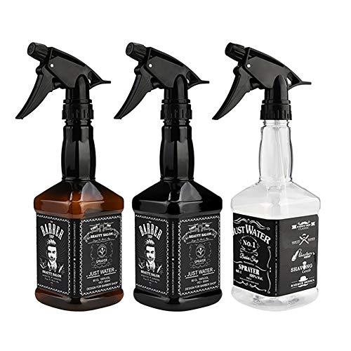 Botellas del aerosol vacío recargable pulverizador de gatillo de peluquería Botella del aerosol arte belleza Herramientas de agua del rociador para el aceite esencial (650ml / 22oz) Arte Belleza