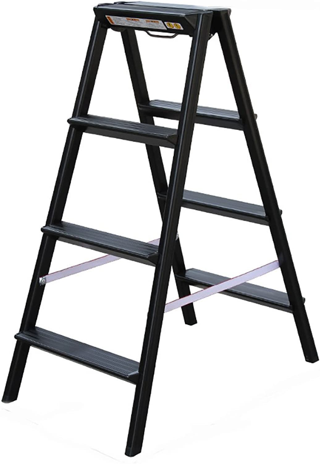 LIZITD Step stool, European style simple aluminum black, white, brown, ladder household folding ladder ladder thickening climbing ladder 3, 4 steps small ladder stool indoor multi-function staircase