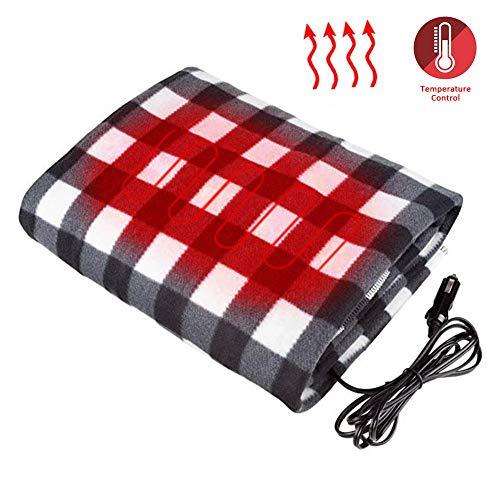 Funnyfeng verwarmingsdeken, 150 x 110 cm, zachte deken, elektrische deken, timer, temperatuur, bedwarmer wasbaar, met oververhittingsbeveiliging, zacht, grote standaard