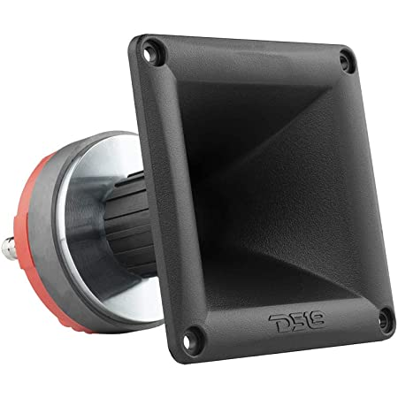 """DS18 PRO-DR1PK44 1"""" Twist On Throat Compression Driver with 1"""" Phenolic Voice Coil and PRO-H44/BK Horn 240 Watts 8-ohm"""
