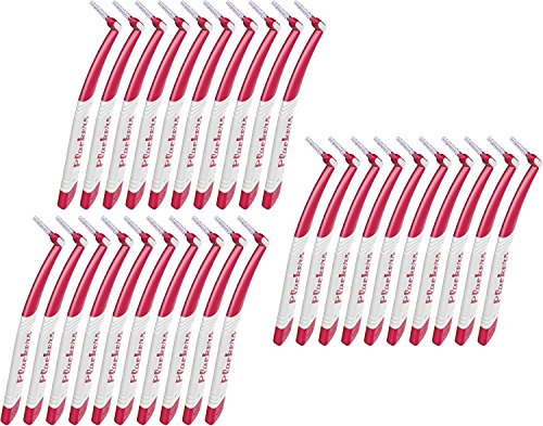 Plackers Interdental Angle Brush RA, 3 Packs of 10