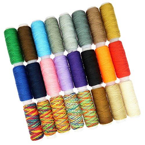 Sharplace Ensemble DE 24 Bobines Fils à Coudre Fils de Machine Polyester pour Broderie, Travaux d'Aiguille, Couture à Main