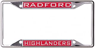 Wincraft Radford Highlanders License Plate Frame, Metal with Inlaid Acrylic, 4 Mount Holes