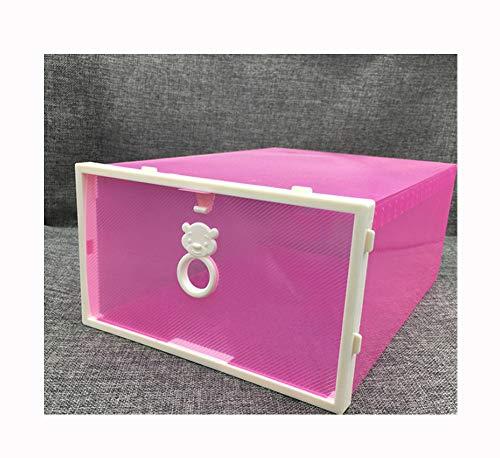 NAXIAOTIAO La Caja De Zapatos De Plástico Pequeño Oso Cajón Caja De Zapatos De Almacenamiento, Organizador En La Entrada, Capacidad De Soporte De Strong, Multi-Capa Apilable(3 Piezas)