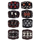 FORMIZON 8 Pezzi Magic Hair Comb Pettini per Capelli Fermagli Vintage Beads Elastic Double...