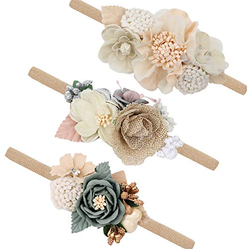 (50% OFF) Newborn Flower Elastic Headband 3-Pack $7.50 – Coupon Code
