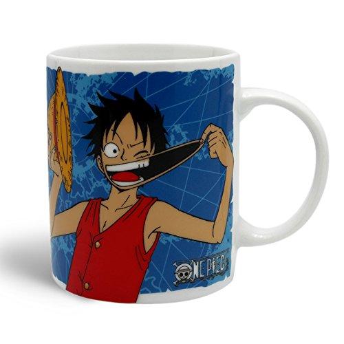 Manga One Piece, Luffy ___-Tazza ufficiale con licenza, colore: bianco