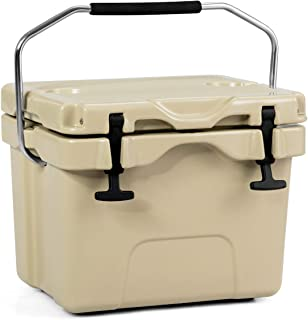 Goplus 16 Quart Cooler, Portable Insulated Ice Chest, 4-Day Ice Retention, 24-Can Capacity Camping Cooler Ice Box for BBQ...
