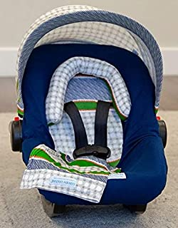 Carseat Canopy Whole Caboodle 5 Piece Set, Soft Jersey Stretch Material - Lawrence