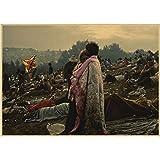 JQQBL Poster Woodstock Rock Music Festival/Retro Craft