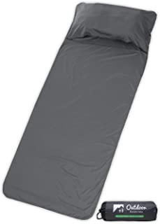OutdoorEssentials Sleeping Bag Liner - Travel & Camping Sheet - Lightweight Adult Sleeping Sack - Ideal for Traveling, Hostels, Camping & Backpacking