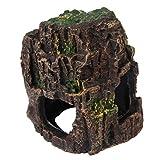 Wakauto Acuario Resina Driftwood Decoración Pecera Madera con Agujeros Ornamento Paisaje Cueva Escondite Adorno de Agua Dulce