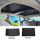 wjm Sunroof Sunshade,Skylight Blind Shading Net Sun Protection Curtain with 2 Pieces for Tesla Model S 2012-2015 Version (Model S -2 of Set)