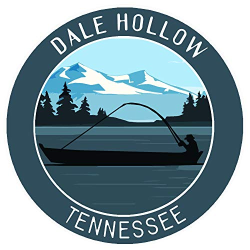 Bass Fishing Dale Hollow Lake Tennessee Vinyl Printed Die-Cut Decorative Auto Decal Sticker Appliques ~ Lake Life Outdoor Series