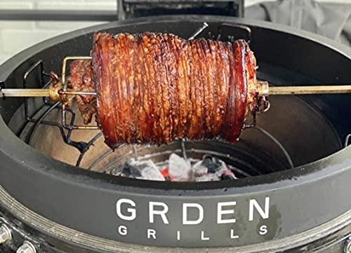 51XlRyuHkdS. SL500  - GRDEN ROTISSERIE BY GRDEN GRILLS | KAMADO ROTISSERIE | Passend für Grills mit einem 53,3 cm Durchmesser