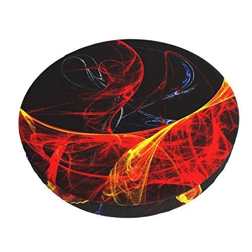 Arte Digital Abstracto Formas Coloridas Barra Redonda Funda de cojín para Silla Funda de Asiento Suave Antideslizante Protector Elástico 12in ~ 14in
