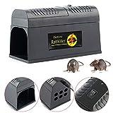 MOMOJA Rattenfalle elektrisch Mäusefalle Professionelle Falle Maus Ratte Batterie Strom Netzteil für Mäuse