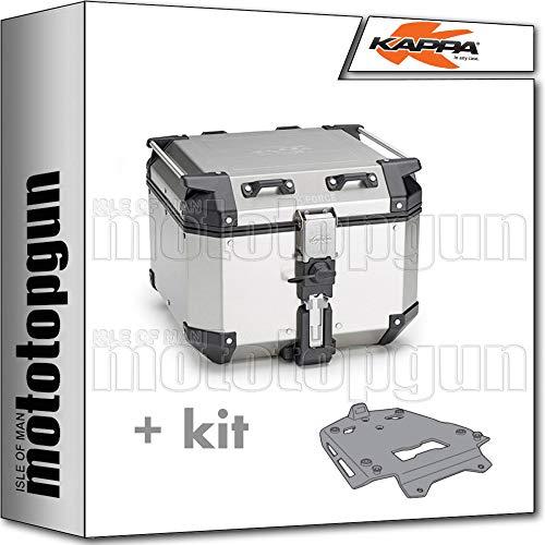 kappa maleta kfr420a k'force 42 lt + portaequipaje aluminio monokey compatible con triumph tiger 800 xc/xr 2016 16