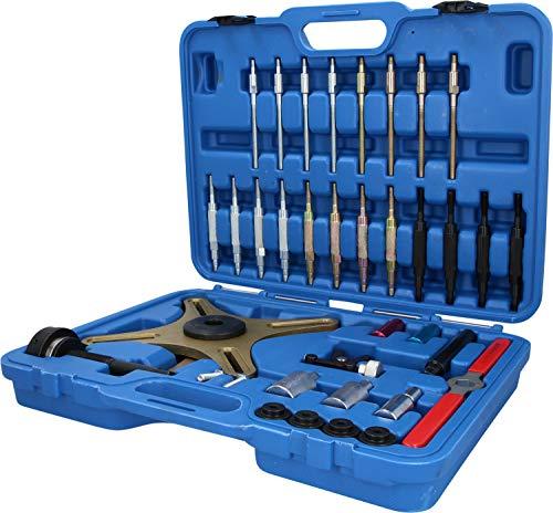 Brilliant Tools BT641150 Jeu d'Outils de centrage pour Embrayage Sac   39 pcs pour Audi. BMW. Fiat. Mercedes. Renault. Opel. Seat. Skoda. Volvo. Volkswagen, Bleu/Noir