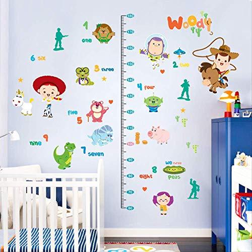 Calcomanías de dibujos animados para niños, calcomanías de medición de altura, pegatinas de guardería y decoración para dormitorio