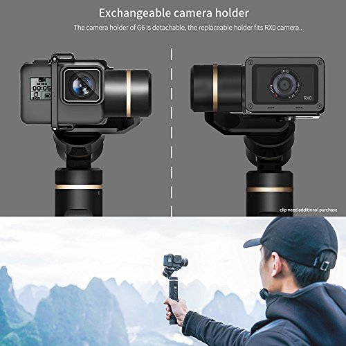 Sony RX0 Updated Version of G5 12Hrs Runtime OLED Screen for Gopro Hero 7//6 // 5//4 Session AEE Cameras Feiyu G6 3-Axis Handheld Gimbal Stabilizer with WiFi Bluetooth Connection Yi Cam 4K