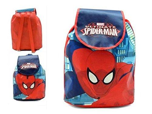 Mochila Infantil Solapa Spiderman 35x32cm