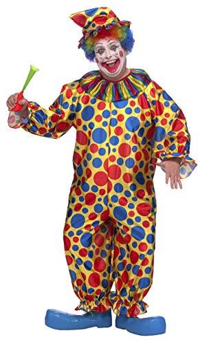Boy/'s Clown Fancy Dress Costume Multi-Coloured Circus Coco Fun Kids Party Fun