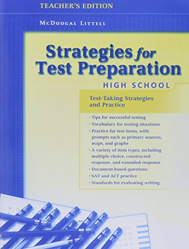 Strategies for Test Preparation: High School, Teacher's Edition