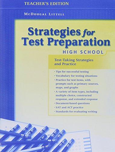 Strategies for Test Preparation: High School, Teacher's Edition