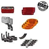 M-Wave Unisex - Adultos Streetproof iluminación y reflectores Set para Remolque, Negro/Rojo/Naranja