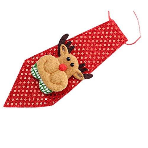 DeHolifer Weihnachtsfeier Einstellbare Kinder Spielzeug Pflege Fliege Krawatte Kleidung Krawatte Gitter Prom Krawatte Eleganter Gentleman Krawatte in verschiedenen Farben