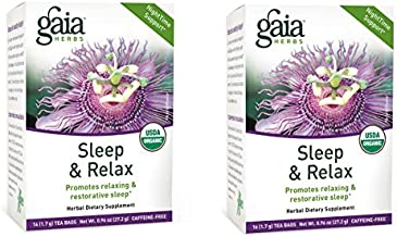 Gaia Herbs Sleep and Relax Herbal Tea Bags, 16 Count (2-Boxes)