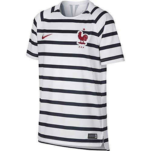 Nike FFF Dri-FIT Squad Fußball-Oberteil, Unisex, Kinder, Weiß, FR (Größe Hersteller: XS)