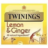 Twinings Lemon & Ginger Tea 80 Bag (order 4 for trade outer) / トワイニングレモンジンジャーティーWWWW 80袋(商品アウターため4 )