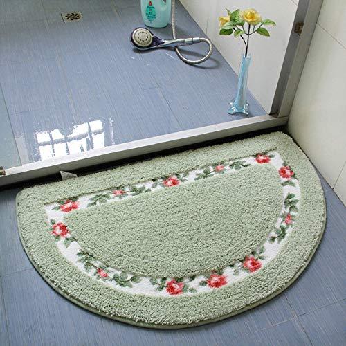 KEAINIDENI toiletmat 40 * 60CM alle vormen 5 kleuren niet-slip badmatten, badkamer mat tapijten voor badkamer toilet woonkamer slaapkamer, vloerkleed 400MMx600MM Banyuan Green