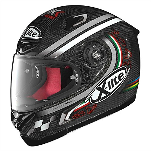 X-Lite X-802-R Ultra Carbon SBK - Casco da racing, colore carbonio, taglia XL (61/62)